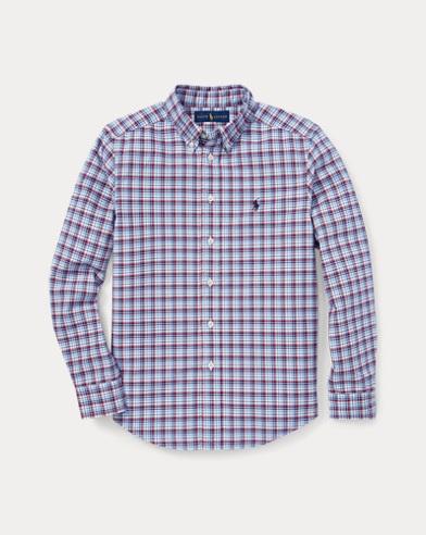 Kariertes Baumwoll-Oxfordhemd
