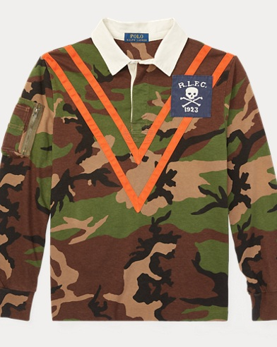 Camo Cotton Jersey Rugby Shirt