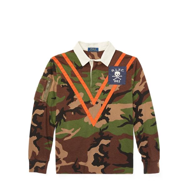 Ralph Lauren Camo Cotton Jersey Rugby Shirt Surplus Camo L