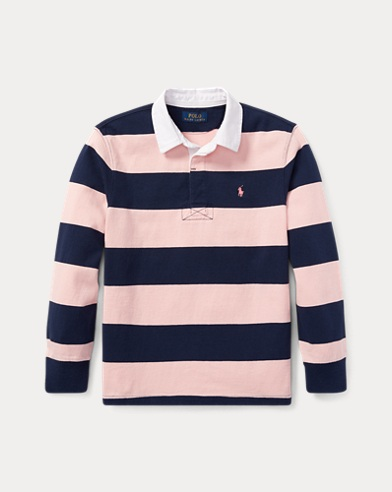 Camicia rugby in cotone Pink Pony