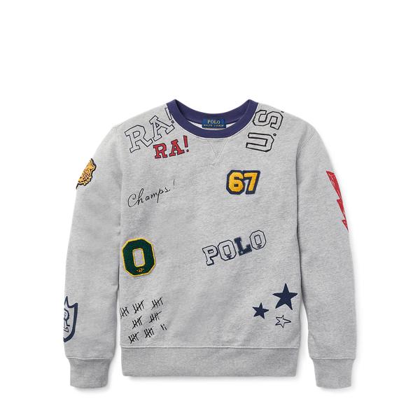 Ralph Lauren Cotton Graphic Sweatshirt Andover Heather Xl