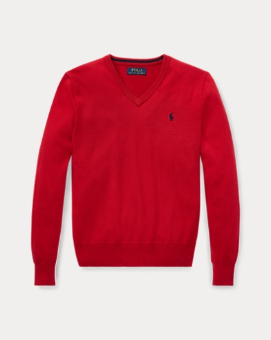 Cotton V-Neck Jumper