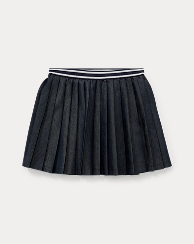 Pleated Twill Skirt