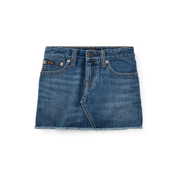 폴로 랄프로렌 여아용 스커트 Polo Ralph Lauren Denim 5-Pocket Skirt,Bales Wash