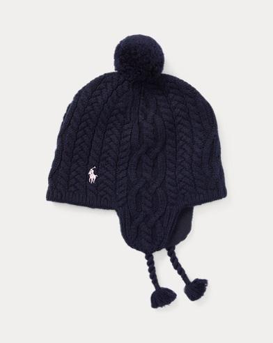 Aran-Knit Earflap Hat