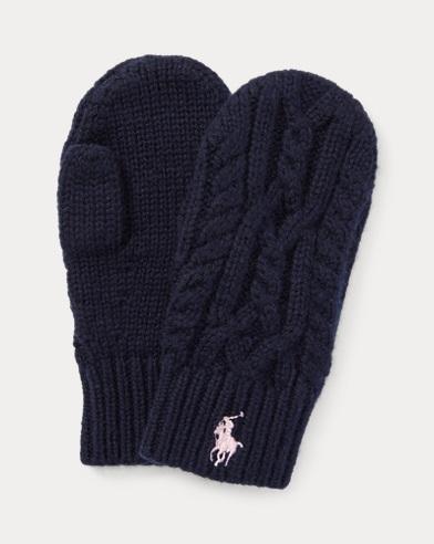 Aran-Knit Mittens
