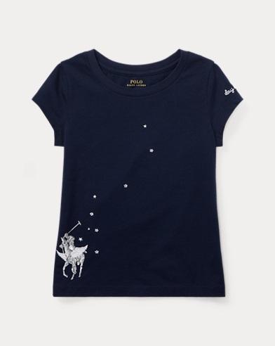 T-shirt graphique brodé