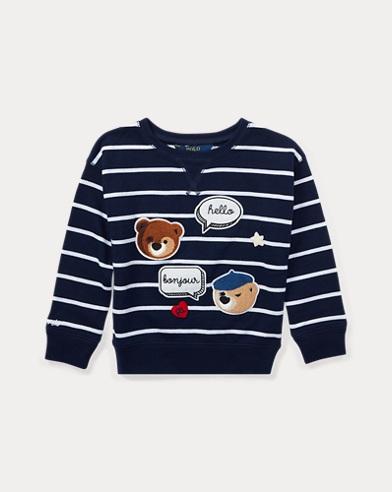Gestreiftes Patchwork-Sweatshirt