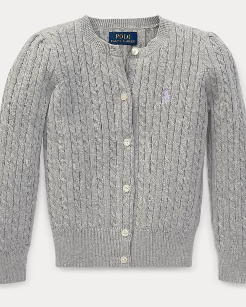 90182c418 Cable-Knit Cotton Cardigan