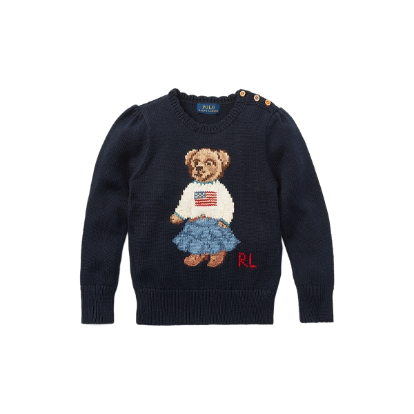 폴로 랄프로렌 Polo Ralph Lauren Polo Bear Cotton Sweater,헌터 Hunter Navy