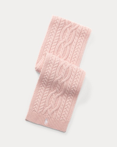 Écharpe en tricot d'Aran