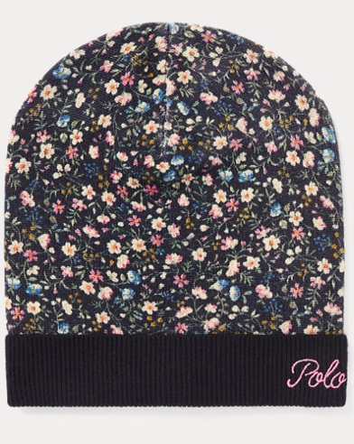 Slouchy Floral Wool Hat