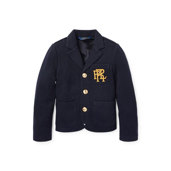 폴로 랄프로렌 여아용 셋업 자켓 Polo Ralph Lauren Knit Cotton-Blend Blazer,Aviator Navy
