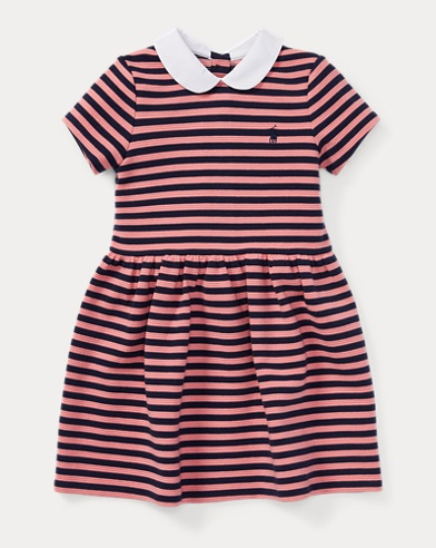 Striped Fit-and-Flare Dress