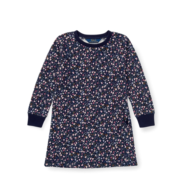 Ralph Lauren Floral French Terry Dress Navy/Pink Multi 3T