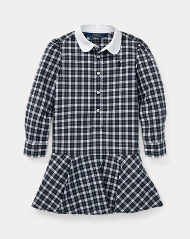 Plaid Cotton Poplin Shirtdress