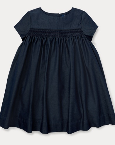Smocked Denim Dress