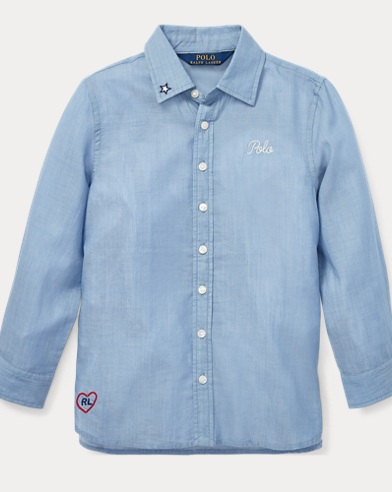 Embroidered Cotton Twill Shirt