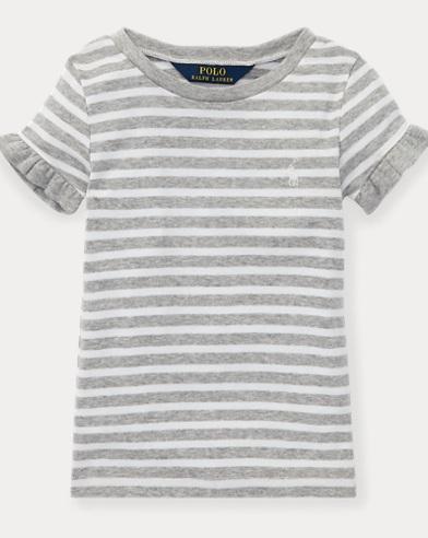 Ruffled Cotton-Modal T-Shirt