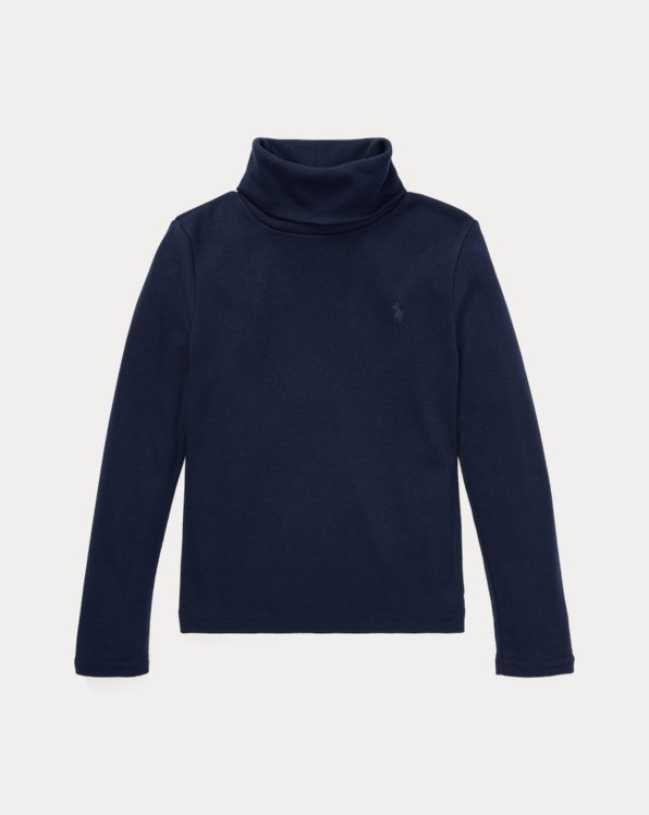 Cotton-Modal Roll Neck