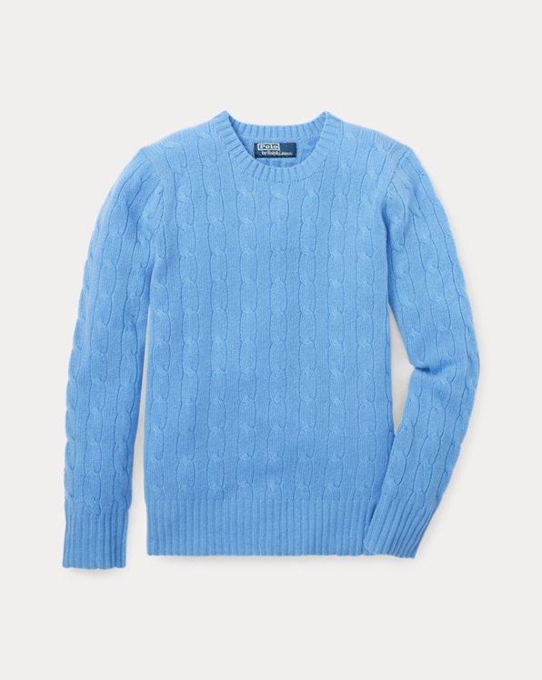 폴로 랄프로렌 여아용 꽈배기 니트 스웨터 Polo Ralph Lauren Cable-Knit Cashmere Sweater,New Litchfield