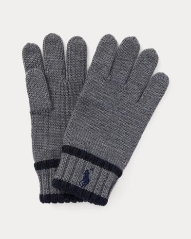 Striped Merino Wool Gloves