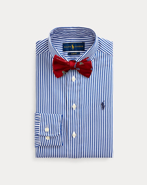 Slim Fit Striped Dress Shirt