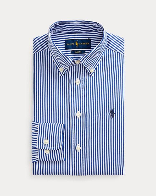Slim-Fit Anzughemd mit Streifen