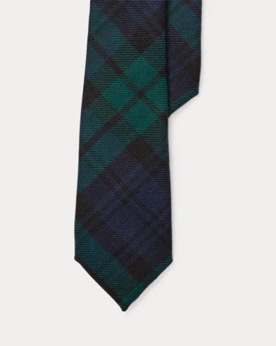 Cravate en laine motif tartan