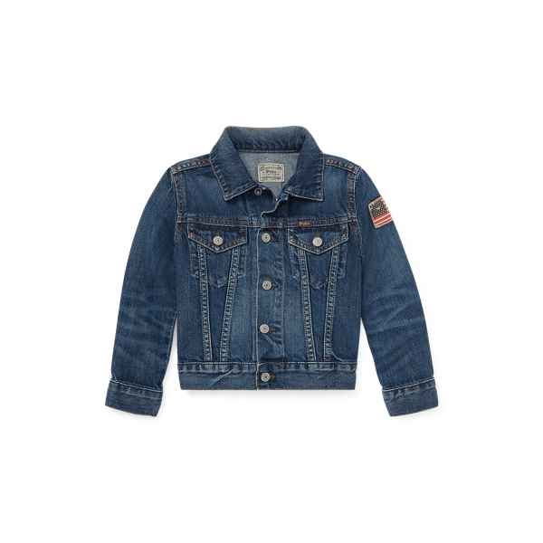폴로 랄프로렌 남아용 트러커 자켓 Polo Ralph Lauren Flag Denim Trucker Jacket,Gordon Wash