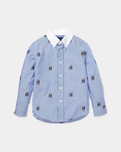 Polo Bear Stretch Cotton Shirt