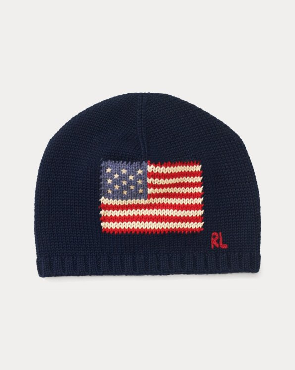 Knit Flag Hat