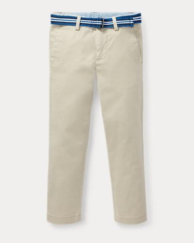 Belted Stretch Skinny Chino