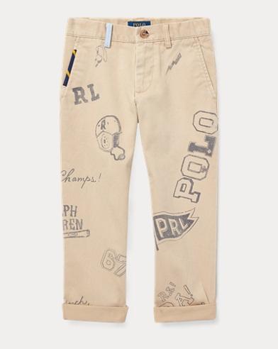 Slim Fit Cotton Graphic Chino