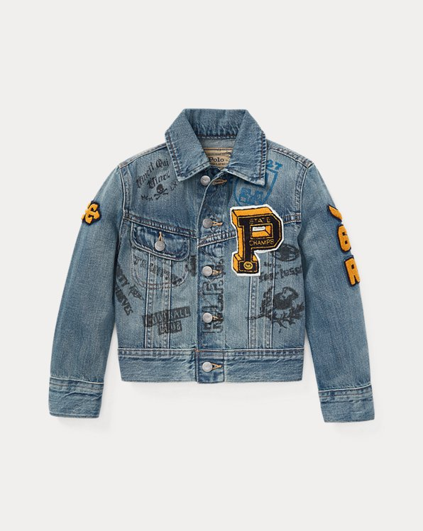 Denim Graphic Trucker Jacket