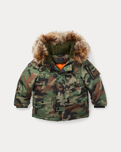 Faux-Fur-Trim Down Parka