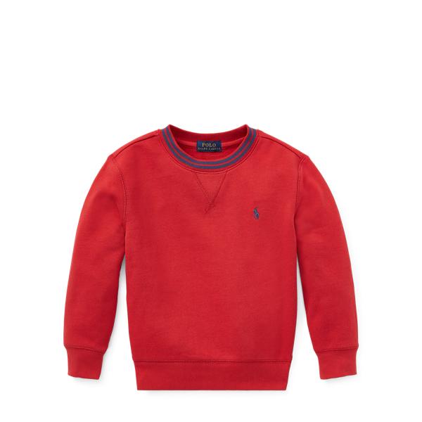 Ralph Lauren Cotton-Blend-Fleece Sweatshirt Faded Red 4T