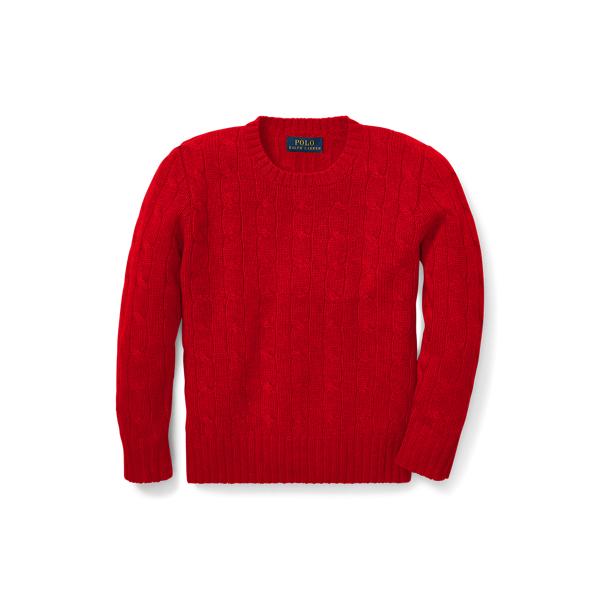 폴로 랄프로렌 남아용 꽈배기 니트 캐시미어 스웨터 Polo Ralph Lauren Cable-Knit Cashmere Sweater,RL 2000 Red