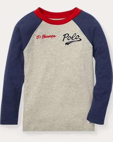 Cotton Jersey Baseball T-Shirt