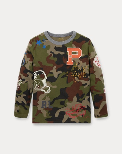 Camo Cotton Graphic T-Shirt