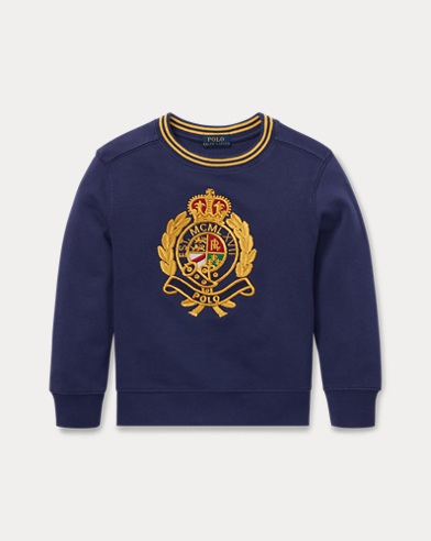 Baumwoll-Sweatshirt mit Wappen