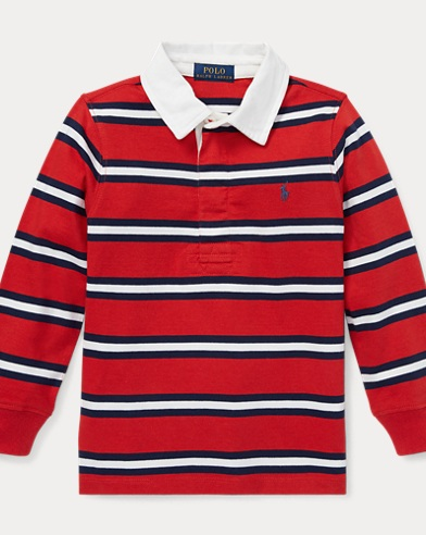Striped Cotton Jersey Rugby