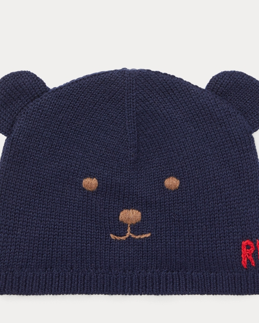 Bonnet ourson en laine et coton 1b552e0279e