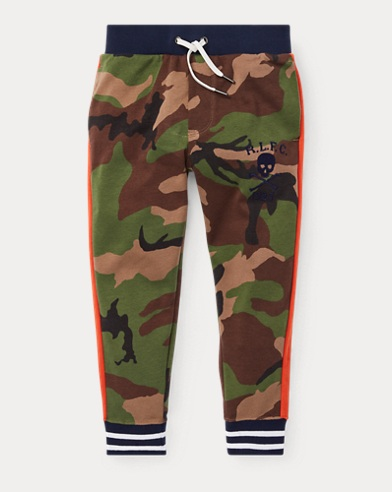 Camo Cotton Track Pant