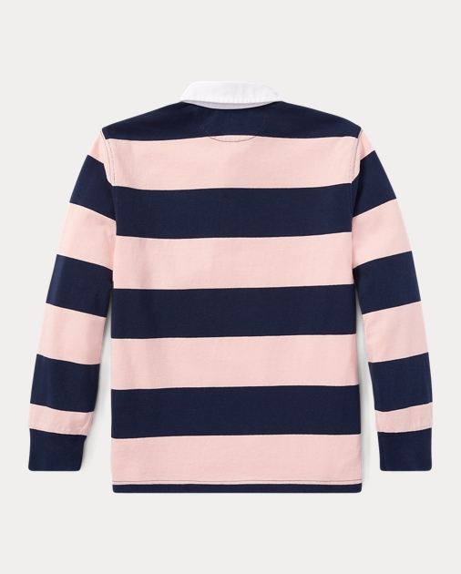 Boys 2-7 Pink Pony Striped Cotton Rugby 2