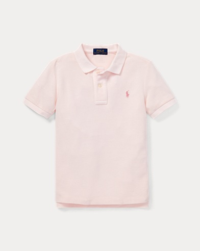 Pink Pony Cotton Mesh Polo