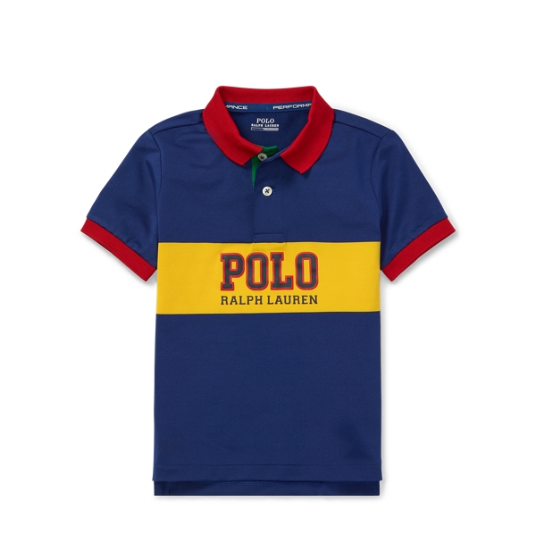 Ralph Lauren Performance Lisle Polo Shirt Sporting Royal Multi 2T