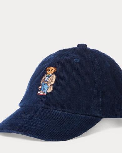 Bear Corduroy Baseball Cap