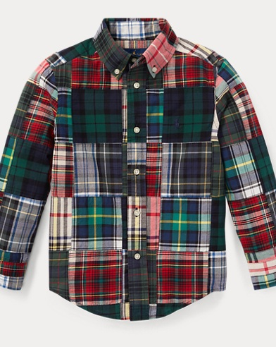 Patchwork Cotton Madras Shirt