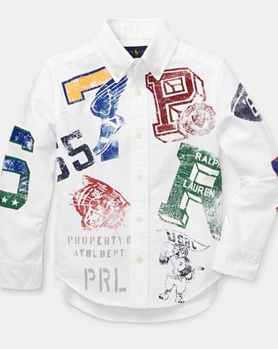 Graphic Cotton Oxford Shirt
